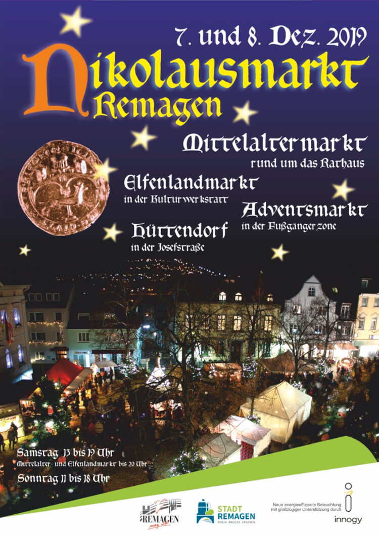 Der Nikolausmarkt/Weihnachtsmarkt in Remagen